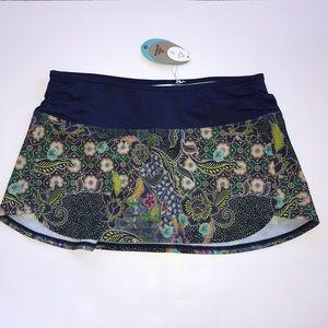 prAna Lattie Swim Skirt in Blue Anchor Kona
